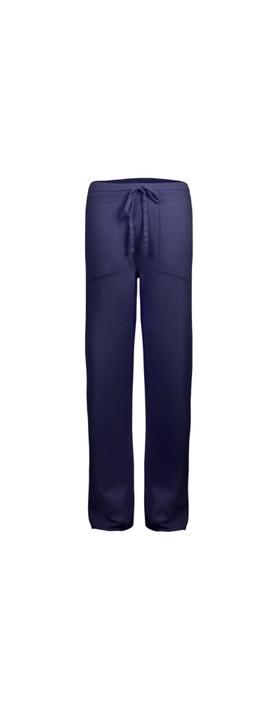 Amazing Woman Jogger Supersoft Knit Wide Leg Lounge Pant  Bright Navy Blu