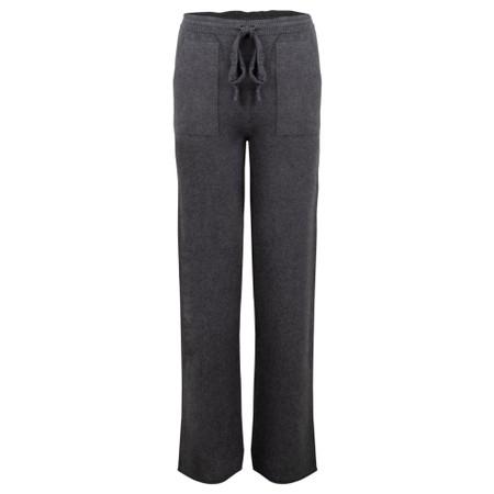 Amazing Woman  Jogger Supersoft Knit Wide Leg Lounge Pant  - Black
