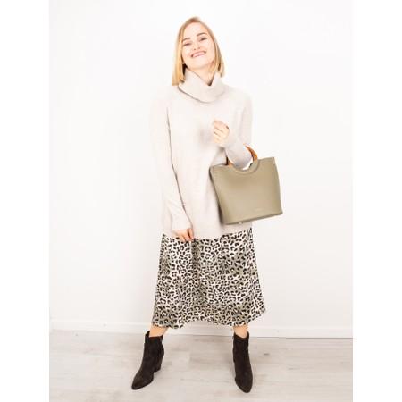 Amazing Woman  Santa Midi Skirt - Grey