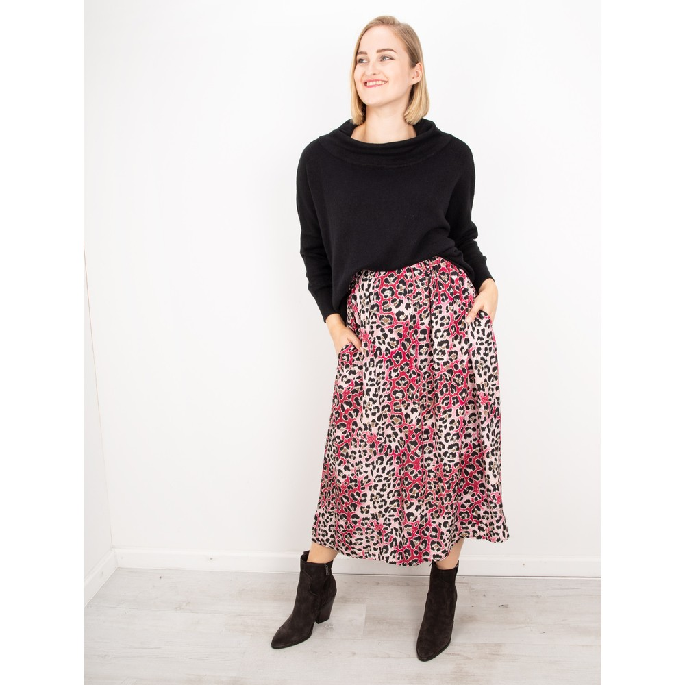 Amazing Woman  Santa Midi Skirt Claret / Rose
