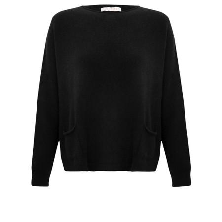 Amazing Woman  Jodie Front Pocket Supersoft Knit Jumper - Black
