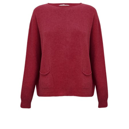 Amazing Woman  Jodie Front Pocket Supersoft Knit Jumper - Purple