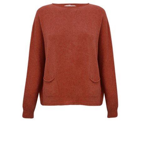 Amazing Woman  Jodie Front Pocket Supersoft Knit Jumper - Red