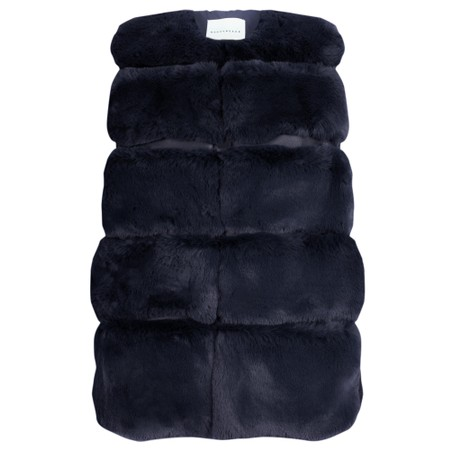 RINO AND PELLE Janay Faux Fur Gilet - Blue