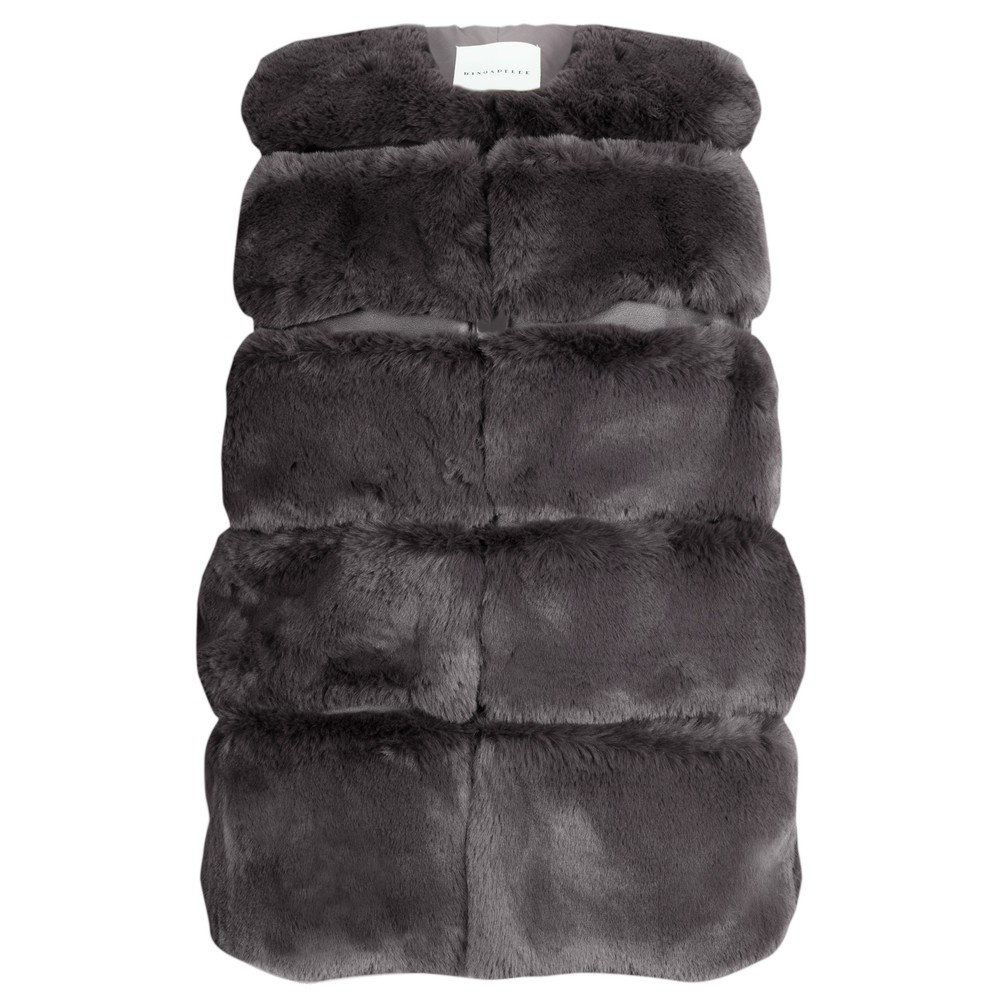 RINO AND PELLE Janay Faux Fur Gilet Taupe