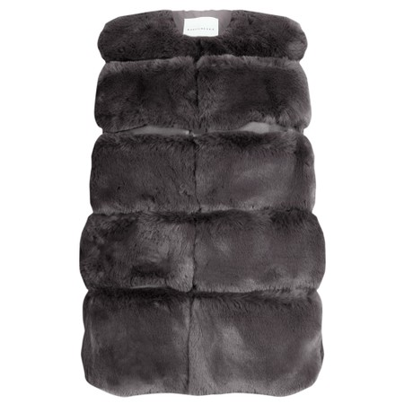 RINO AND PELLE Janay Faux Fur Gilet - Brown