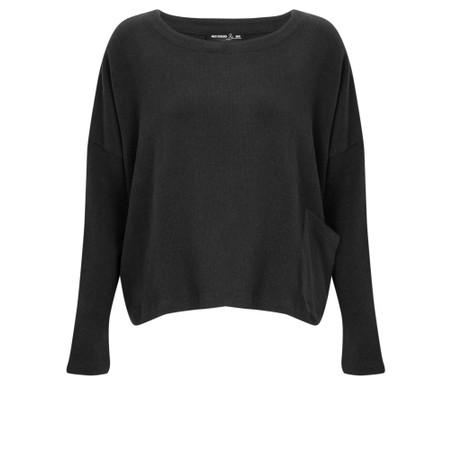 Mes Soeurs et Moi Oreiller Top with Pocket - Black