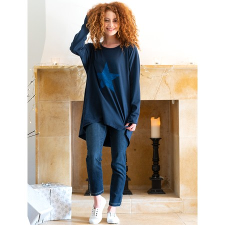 Chalk Gemini Exclusive ! Robyn Star Top - Blue