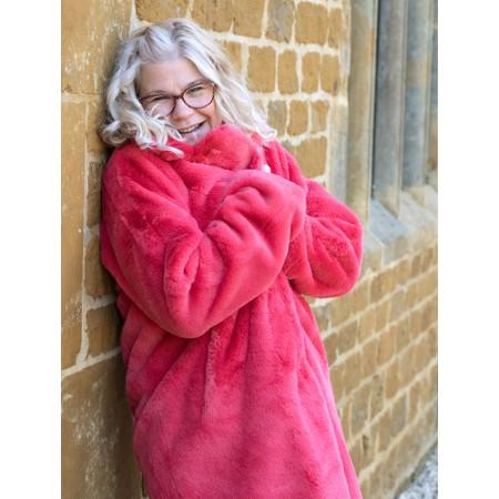 RINO AND PELLE Joela Faux Fur Coat - Red