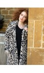 RINO AND PELLE Grey Leopard Kensia Teddy Coat