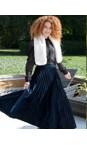 Pour Moi Blu Velvet Pleated Skirt