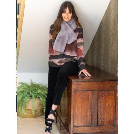 Robell  Marie Stretch Cotton Velvet Slim Full Length Trouser - Black