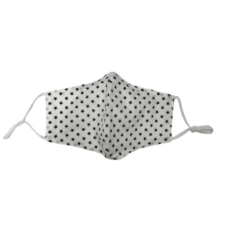 Jayley Stars Face Mask  - White