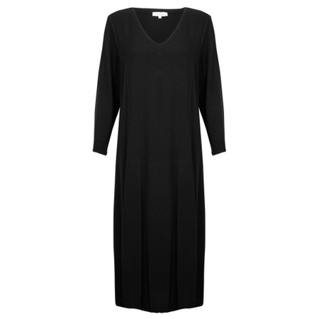 Sahara V Neck Drapey Dress - Black