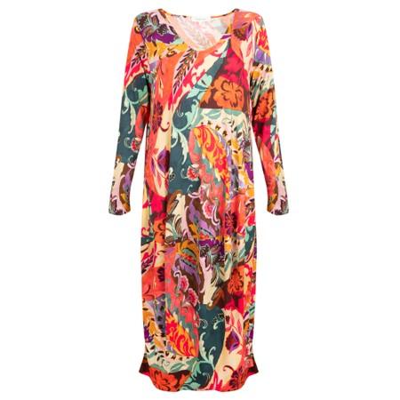 Sahara Folk Paisley Bubble Dress - Multicoloured