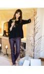 Robell  Bordeaux 58 Rose Bordeaux Faux Leather Trouser