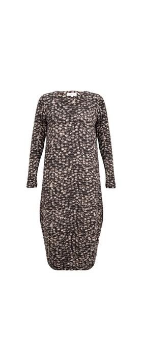 Sahara Wave Dot Jersey Dress Multi