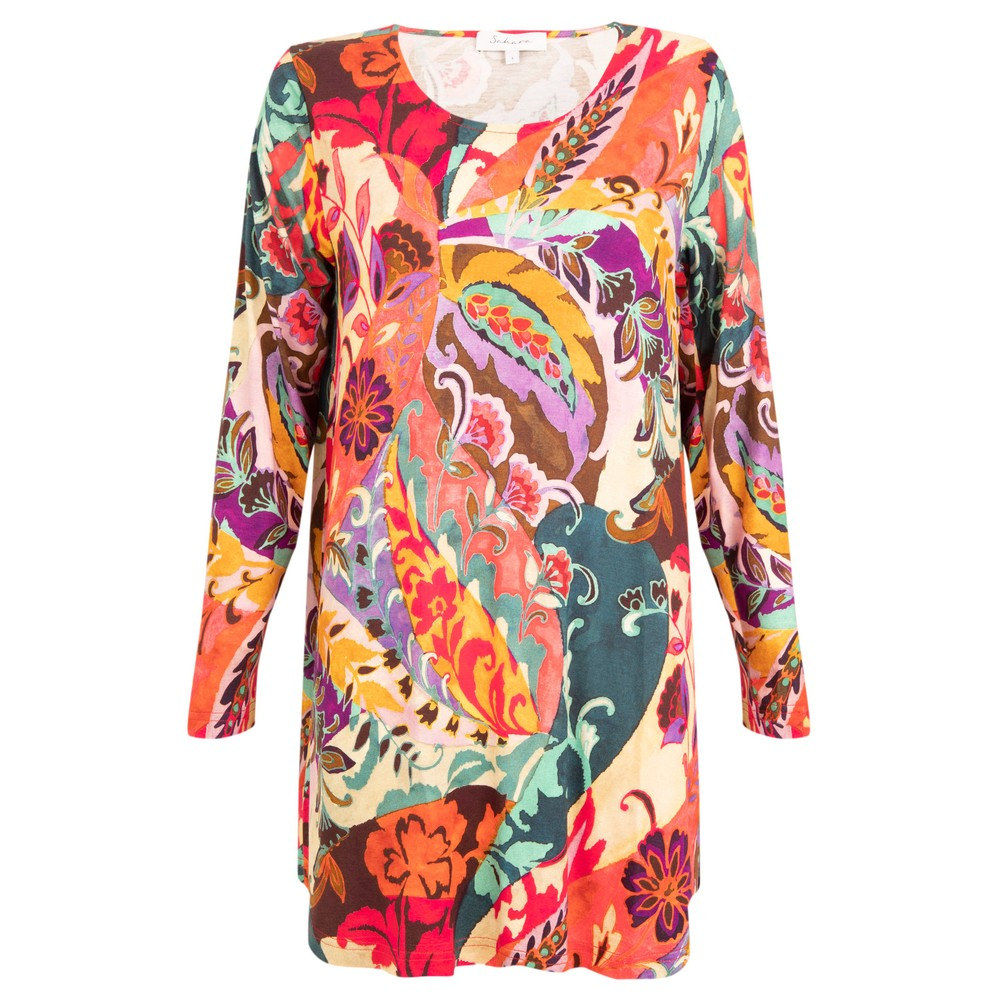 Sahara Folk Paisley Print Top Multi