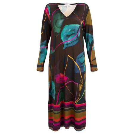 Sahara V Neck Abstract Dress - Multicoloured