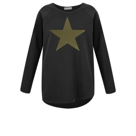 Chalk Gemini Exclusive ! Tasha Star Top - Black