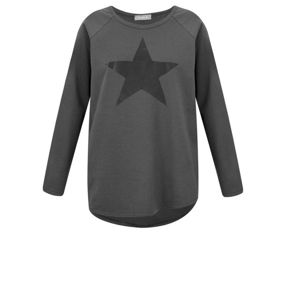 Chalk Tasha Star Top Charcoal / Dk Grey