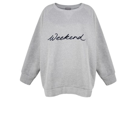 Chalk Ruby Weekend Sweatshirt - Grey
