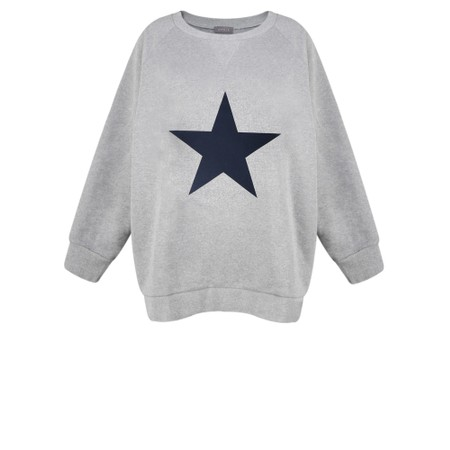 Chalk Ruby Star Sweatshirt  - Grey