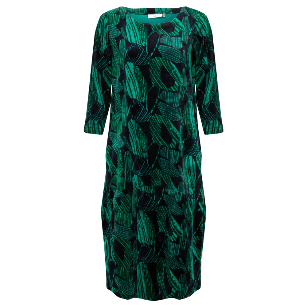 Adini Elodie Velour Dress Navy