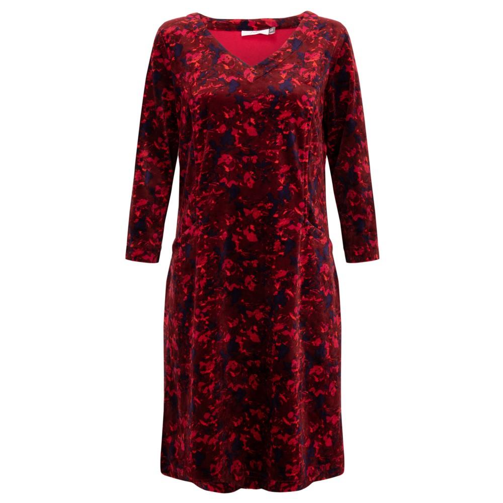 Adini Dianna Velour Dress Burgundy