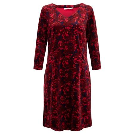 Adini Dianna Velour Dress - Red