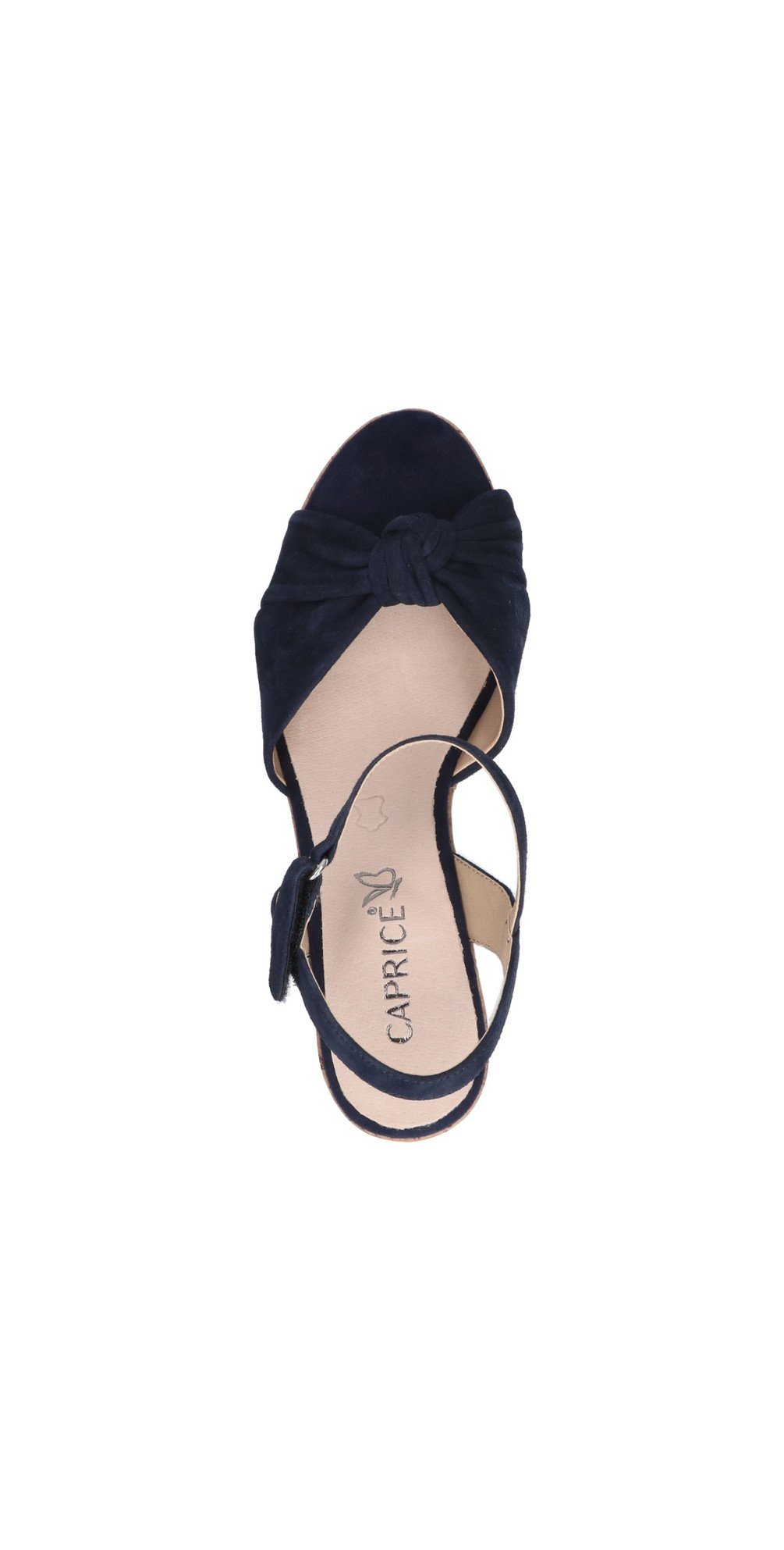 Knot Suede Wedge sandal  main image