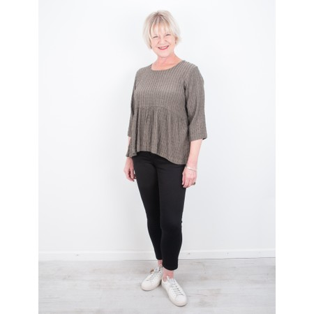 Thing Textured Smock Top - Beige
