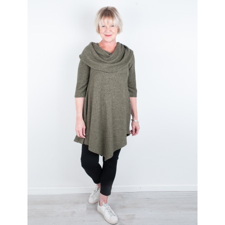 Thing Cowl Supersoft Fleece Bardot Tunic - Green