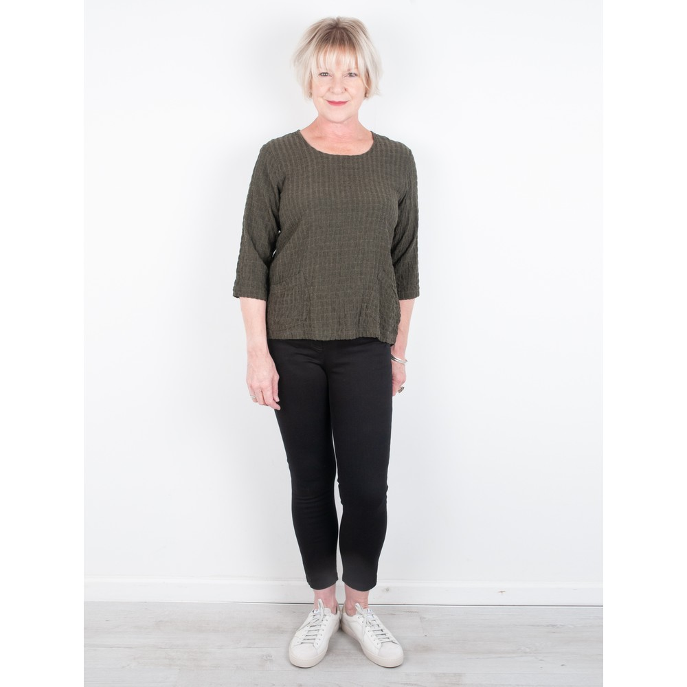 Thing 2 Pocket Textured Top Herb