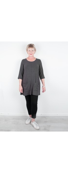 Thing Supersoft Fleece Pocket Tunic Top Ash