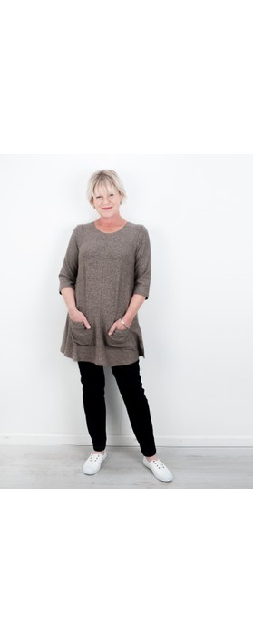 Thing Supersoft Fleece Pocket Tunic Top Sand