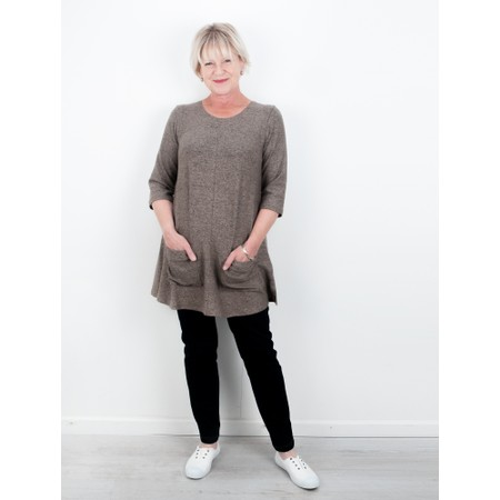 Thing Supersoft Fleece Pocket Tunic Top - Beige