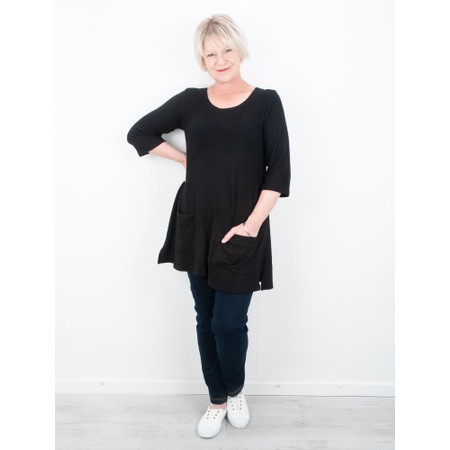 Thing Supersoft Fleece Pocket Tunic Top - Black