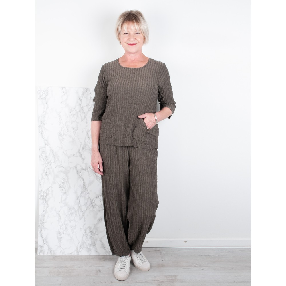 Thing Easyfit  Textured Trouser Sand