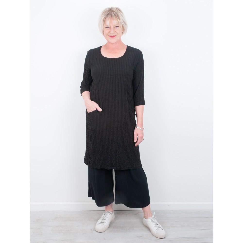 Thing Jet Pocket Textured Dress Black