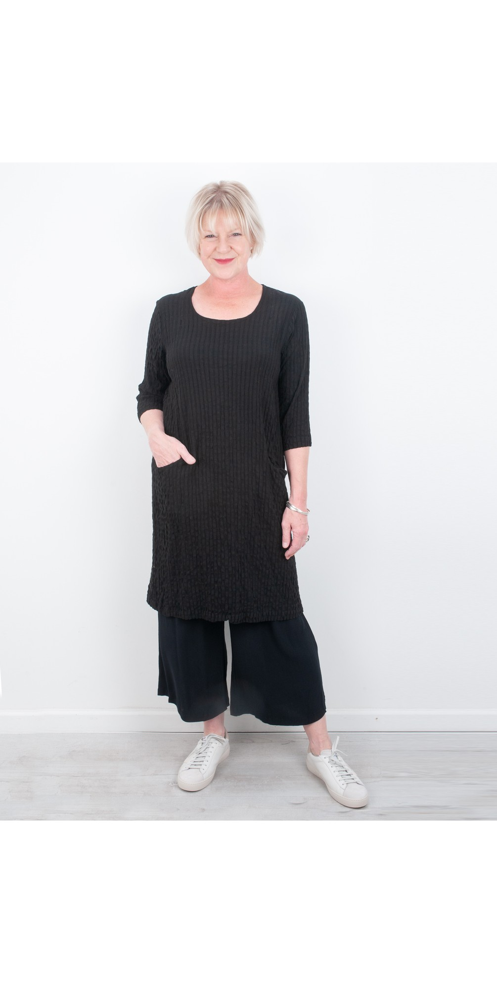 Jet Pocket Textured Dress main image
