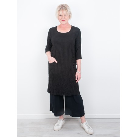Thing Jet Pocket Textured Dress - Black