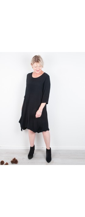 Thing Tunic Crepe Dress Black