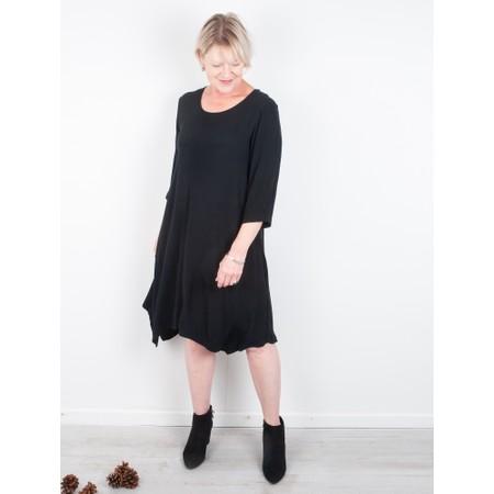 Thing Tunic Crepe Dress - Black