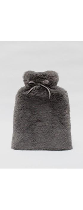 Chalk Teddy Hot Water Bottle Charcoal