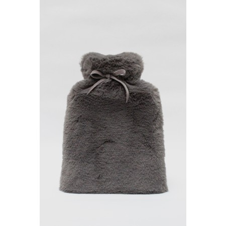 Chalk Teddy Hot Water Bottle - Black