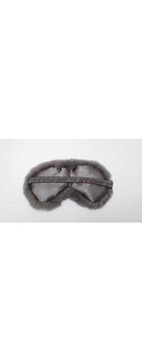 Chalk Home Liz Luxury Faux Fur Sleep Mask Charcoal