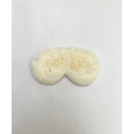 Chalk Liz Luxury Faux Fur Sleep Mask - White