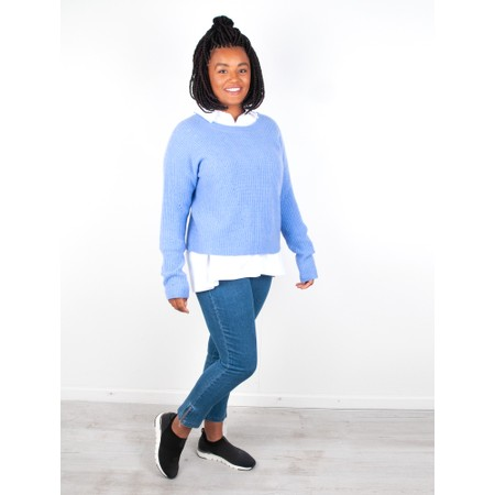 Van Kukil Cashmere Scoop Neck Jumper - Blue