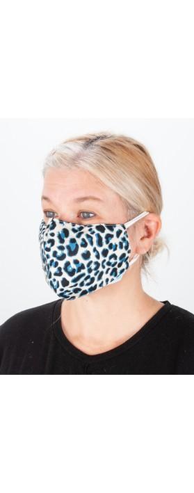 Jayley Leopard Print Face mask MKBD14A-09 Blue Leo